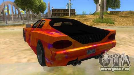 GTA 3 Cheetah ZTR für GTA San Andreas zurück linke Ansicht