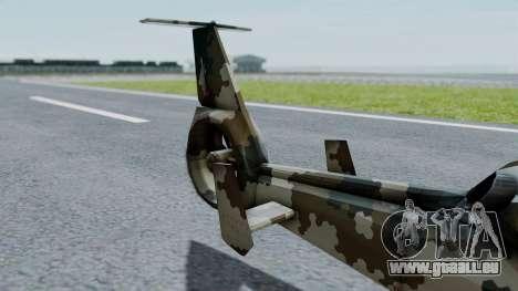 PO-34 Orca pour GTA San Andreas sur la vue arrière gauche