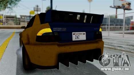 GTA 5 Karin Sultan RS Rally PJ für GTA San Andreas Seitenansicht