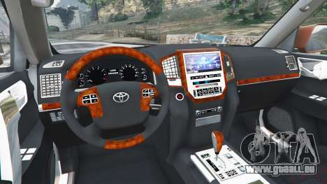 GTA 5 Toyota Land Cruiser 200 2016 hinten rechts