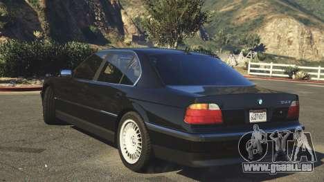 GTA 5 BMW 750i (e38) arrière vue latérale gauche