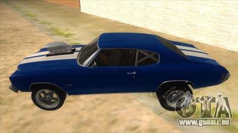1970 Chevrolet Chevelle SS Drag pour GTA San Andreas laissé vue