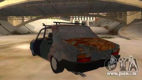 Dacia 1310 Rusty v2 pour GTA San Andreas sur la vue arrière gauche