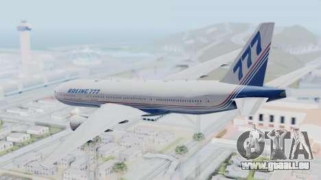 Boeing 777-200 Prototype pour GTA San Andreas vue de droite