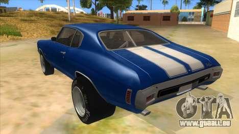 1970 Chevrolet Chevelle SS Drag für GTA San Andreas zurück linke Ansicht