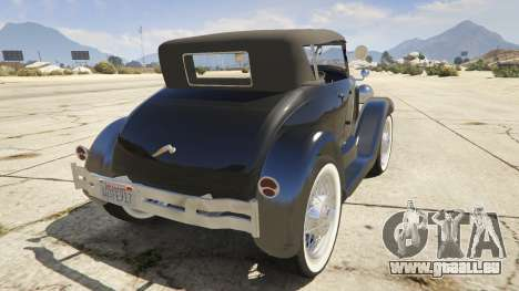 Ford T 1927 Roadster pour GTA 5