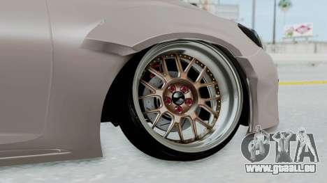 Toyota Mark X Slammed pour GTA San Andreas sur la vue arrière gauche