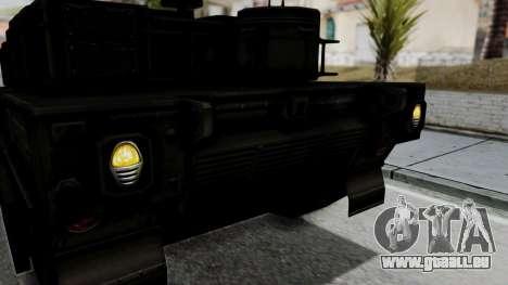 Point Blank Black Panther Woodland IVF für GTA San Andreas Innenansicht