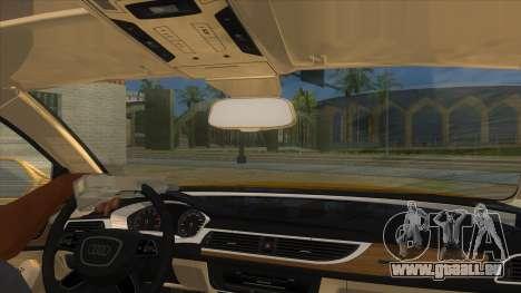 Audi A6 2012 pour GTA San Andreas vue intérieure