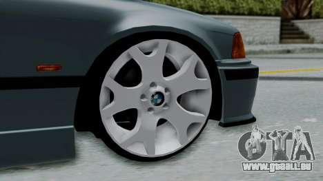 BMW 320 E36 Coupe pour GTA San Andreas sur la vue arrière gauche