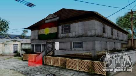 New CJ House with Kurdish Flag für GTA San Andreas