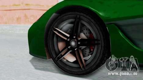 GTA 5 Progen T20 v2 IVF pour GTA San Andreas sur la vue arrière gauche