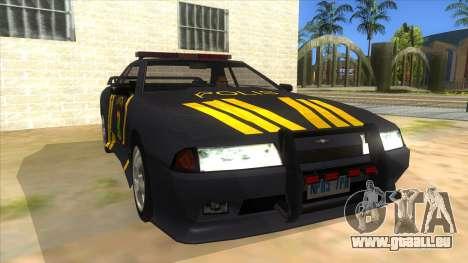 Elegy NR32 Police Edition Grey Patrol für GTA San Andreas Rückansicht