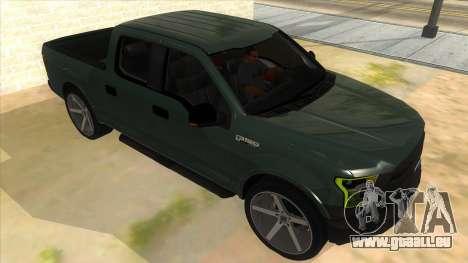 Ford F-150 2015 für GTA San Andreas Rückansicht