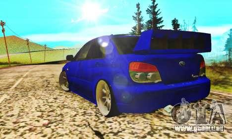 Subaru Impreza WRX STI Lisa pour GTA San Andreas vue de droite
