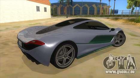 GTA 5 Progen T20 Lights version pour GTA San Andreas vue de droite