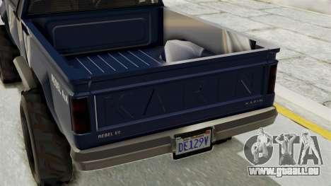 GTA 5 Karin Technical Cleaner pour GTA San Andreas sur la vue arrière gauche