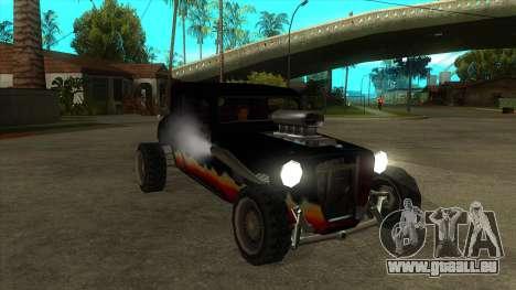 Diablos Hotknife pour GTA San Andreas vue arrière