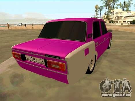 VAZ 2106 Tyumen pour GTA San Andreas laissé vue