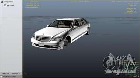 GTA 5 2011 Mercedes-Benz S600 Guard Pullman rechte Seitenansicht