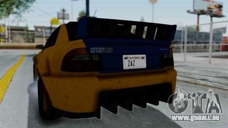 GTA 5 Karin Sultan RS Rally PJ für GTA San Andreas Innenansicht