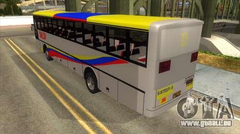 Dalin Ordinary pour GTA San Andreas sur la vue arrière gauche