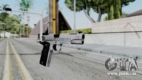 For-h Gangsta13 Pistol für GTA San Andreas