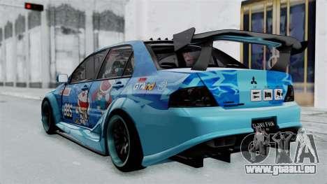 Mitsubishi Lancer Evolution IX MR Edition v2 für GTA San Andreas linke Ansicht