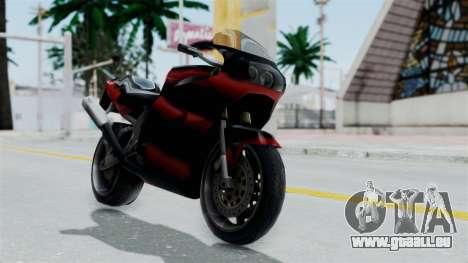 FCR-900 Custom pour GTA San Andreas sur la vue arrière gauche