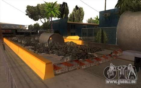 Des travaux de réparation sur Grove Street pour GTA San Andreas troisième écran