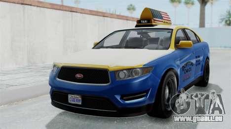 GTA 5 Vapid Stanier Ⅲ (Interceptor) Taxi pour GTA San Andreas