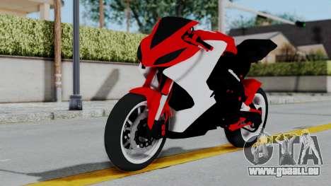 Yamaha YZF-R25 YoungMachine Concept für GTA San Andreas zurück linke Ansicht