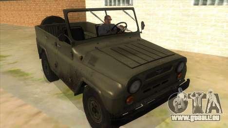 UAZ-469 Green für GTA San Andreas Rückansicht