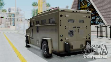 GTA 5 Brute Riot Police IVF pour GTA San Andreas laissé vue