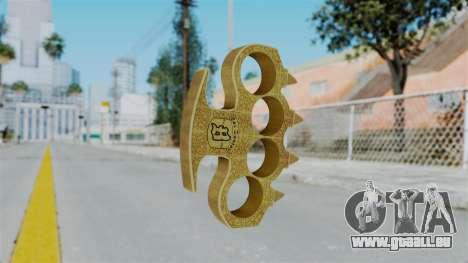 Knuckle Dusters from Ill Gotten Gains Part 2 pour GTA San Andreas deuxième écran