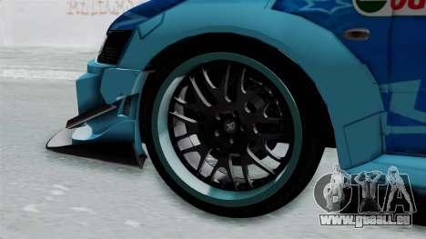 Mitsubishi Lancer Evolution IX MR Edition v2 für GTA San Andreas zurück linke Ansicht