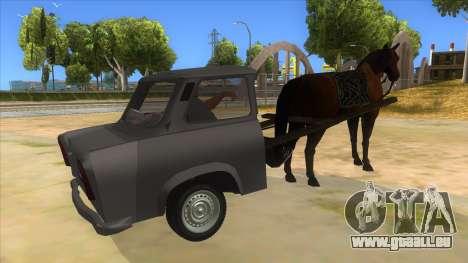Trabant with Horse pour GTA San Andreas vue de droite
