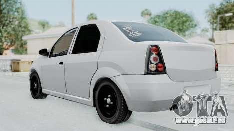Dacia Logan pour GTA San Andreas laissé vue