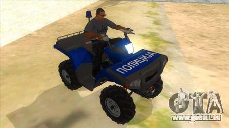 ATV Polaris Police für GTA San Andreas Rückansicht