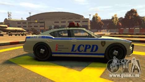 Bravado Buffalo Police Patrol [original wheels] für GTA 4 linke Ansicht