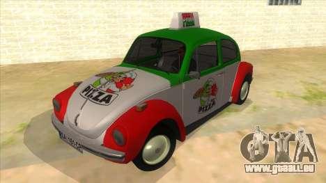 Volkswagen Beetle Pizza für GTA San Andreas