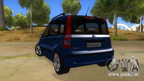 Fiat Panda V3 für GTA San Andreas zurück linke Ansicht