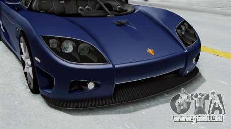 Koenigsegg CCX pour GTA San Andreas vue de côté