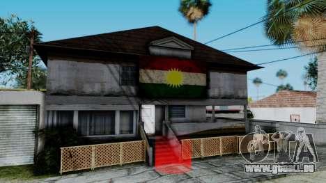 New CJ House with Kurdish Flag für GTA San Andreas zweiten Screenshot