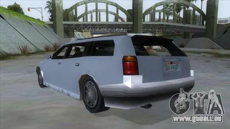 GTA LCS Sindacco Argento pour GTA San Andreas sur la vue arrière gauche