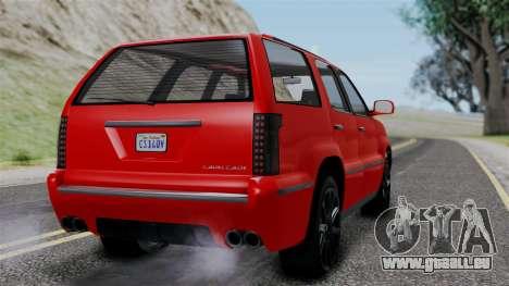 GTA 5 Albany Cavalcade v2 für GTA San Andreas linke Ansicht