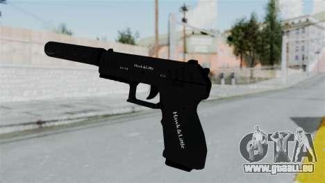 GTA 5 Combat Pistol pour GTA San Andreas troisième écran