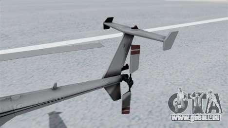 Makarovs Private MD-500 für GTA San Andreas zurück linke Ansicht