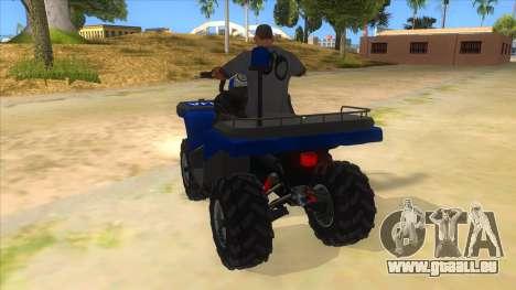 ATV Polaris Police für GTA San Andreas zurück linke Ansicht