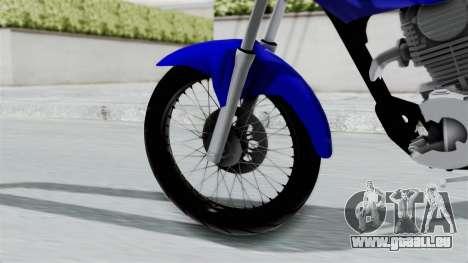 Honda CG Titan 2014 Stunt für GTA San Andreas zurück linke Ansicht